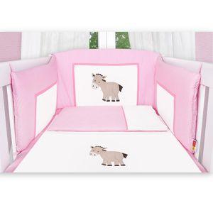 8-tlg. Bettsetpaket Prestij in rosa inkl. Lätzchen, Babybettdecke und Babykissen – Bild 4