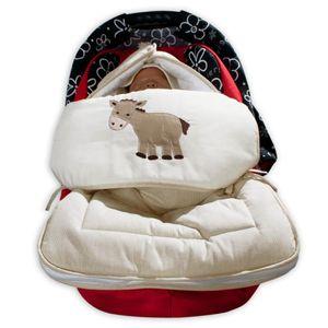 8-tlg. Bettsetpaket Prestij in beige inkl. Fußsack, Babybettdecke und Kissen – Bild 5