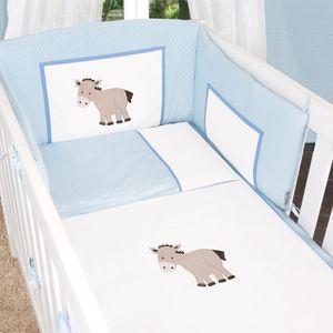 8-tlg. Bettsetpaket Prestij in blau inkl. Schlafsack, Babydecke und Kissen – Bild 5