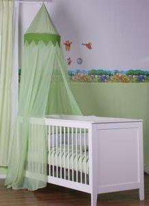 8-tlg. Bettsetpaket Enni Bear in grün inkl. Spannbettlaken, Babydecke + Kissen – Bild 1