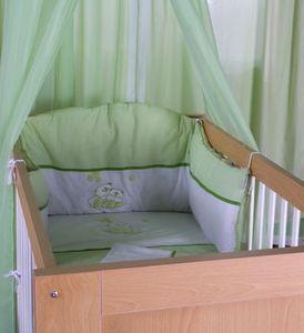 8-tlg. Bettsetpaket Enni Bear in grün inkl. Spannbettlaken, Babydecke + Kissen – Bild 3