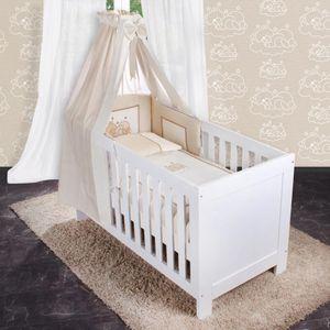 8-tlg. Bettsetpaket Sleeping Bear in beige inkl. Fußsack, Decke und Kissen – Bild 1