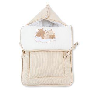 8-tlg. Bettsetpaket Sleeping Bear in beige inkl. Fußsack, Decke und Kissen – Bild 7