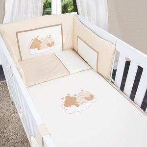 8-tlg. Bettsetpaket Sleeping Bear in beige inkl. Betttasche, Decke und Kissen – Bild 5