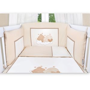8-tlg. Bettsetpaket Sleeping Bear in beige inkl. Wickelauflage, Decke und Kissen – Bild 3