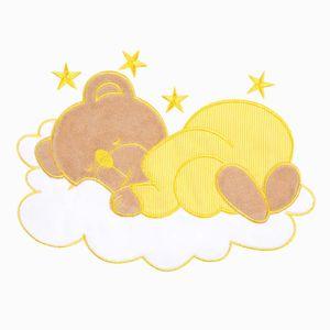 7-tlg. Bettsetpaket Sleeping Bear in gelb inkl. Wickelauflage und Himmelstange – Bild 6