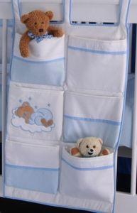 19-tlg. Babyzimmer Deniz in blau mit Textilien in Sleeping Bear blau – Bild 7