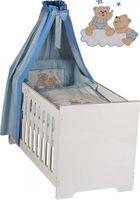 19-tlg. Babyzimmer Deniz in blau mit Textilien in Joy blau 001