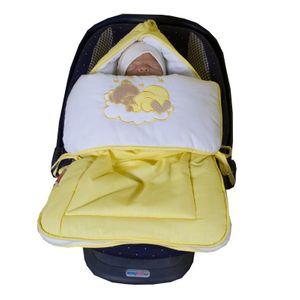 17-tlg. Set:Baby-u.Kinderbett NATURA Klassik Nuss mit Bettkasten und Bettset Sleeping Bear gelb – Bild 4