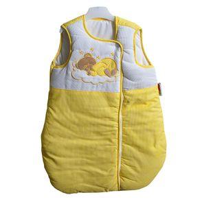 17-tlg. Set:Baby-u.Kinderbett NATURA Klassik Nuss mit Bettkasten und Bettset Sleeping Bear gelb – Bild 3