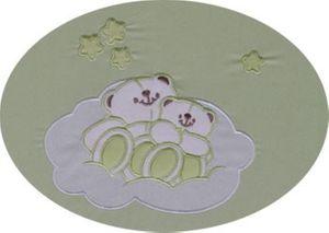 Babyzimmer Felix in akaziengrau 10 tlg. mit 2 türigem Kl. + Enni Bear grün – Bild 2