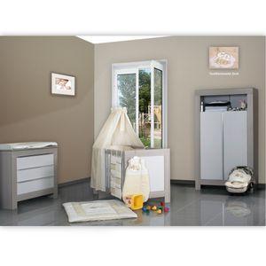 Babyzimmer Felix in akaziengrau 10 tlg. mit 2 türigem Kl. in Enni Bear beige – Bild 1