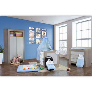Babyzimmer Felix in akaziengrau 10 tlg. mit 2 türigem Kl. in Joy blau – Bild 2