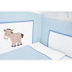 Babyzimmer Felix in akaziengrau 10 tlg. mit 2 türigem Kl. in Prestij blau – Bild 7