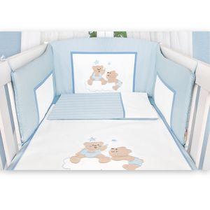 Babyzimmer Felix in akaziengrau 10 tlg. mit 3 türigem Kl. + Set Joy blau – Bild 6