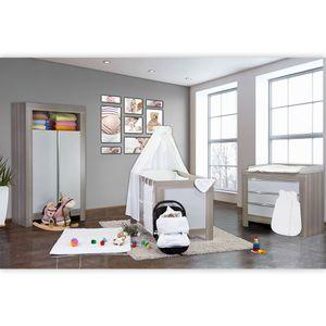 Babyzimmer Felix in akaziengrau 10 tlg. mit 2 türigem Kl. + Sleeping Bear weiß – Bild 2