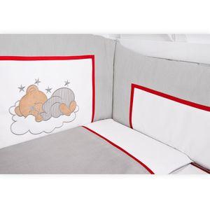 Hochglanz Babyzimmer Memi 19-tlg. mit Textilien Sleeping Bear in Grau – Bild 9