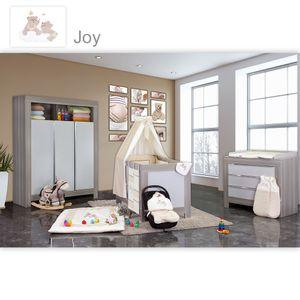 Babyzimmer Felix in akaziengrau 10 tlg. mit 3 türigem Kl. + Set Joy beige – Bild 1