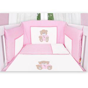 Babyzimmer Felix in akaziengrau 10 tlg. mit 3 türigem Kl. + Set Memi Bear Rosa – Bild 6