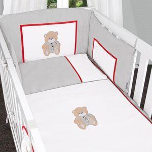 Babyzimmer Felix in akaziengrau 10 tlg. mit 2 türigem Kl. + Memi Bear Grau – Bild 5