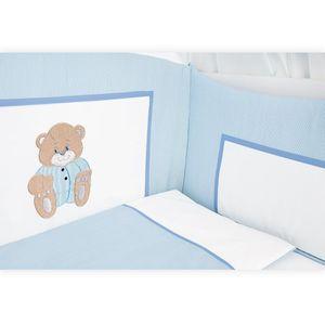 Babyzimmer Felix in akaziengrau 10 tlg. mit 2 türigem Kl. + Memi Bear Blau – Bild 4