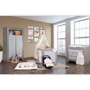 Babyzimmer Felix in akaziengrau 10 tlg. mit 2 türigem Kl. + Kleiner Prinz Beige – Bild 2