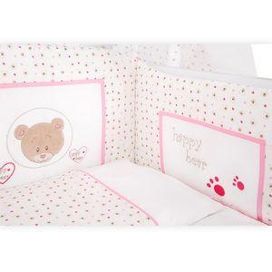Babyzimmer Felix in akaziengrau 10 tlg. mit 2 türigem Kl. + Set Cute Bear Rosa – Bild 9