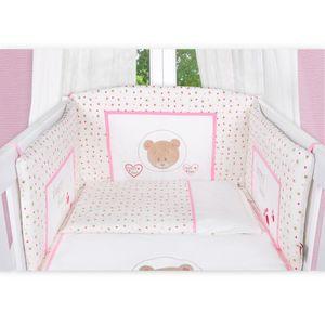 Babyzimmer Felix in akaziengrau 10 tlg. mit 2 türigem Kl. + Set Cute Bear Rosa – Bild 7