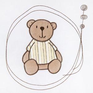 Babyzimmer Felix in akaziengrau 10 tlg. mit 2 türigem Kl. + Set Little Bear Gelb – Bild 10
