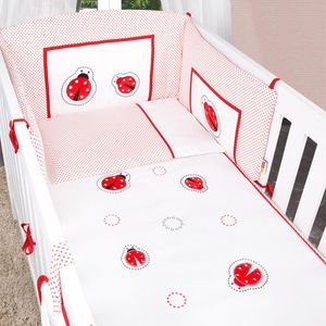 Babyzimmer Felix in akaziengrau 10 tlg. mit 2 türigem Kl. + Set Marienkäfer – Bild 9
