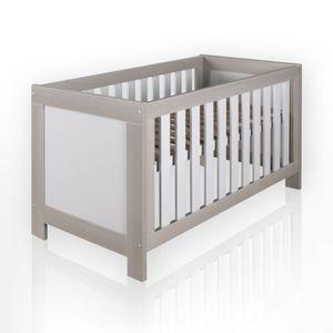 Babyzimmer Felix in akaziengrau 10 tlg. mit 2 türigem Kl. + Set Blossom Weiß/Grau – Bild 3