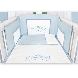 Babyzimmer Enni in weiss 10 tlg. mit 2 türigem Kl. + Textilien von Kleiner Prinz in Blau – Bild 5
