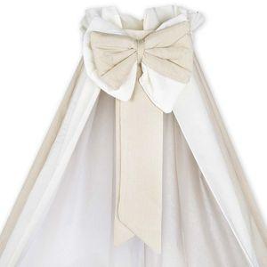 Babyzimmer Enni in weiss 10 tlg. mit 2 türigem Kl. + Textilien von Blossom in Beige – Bild 5