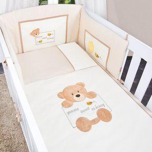 Babyzimmer Enni in weiss 10 tlg. mit 2 türigem Kl. + Textilien von Honey Bear in Beige – Bild 7