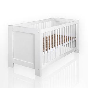 Babyzimmer Enni in weiss 10 tlg. mit 2 türigem Kl. + Textilien von Blue Marine in Blau – Bild 3