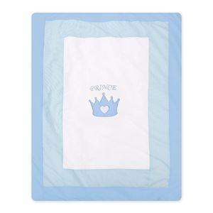 Hochglanz Babyzimmer Memi 19-tlg. mit Textilien Prince in Blau – Bild 18