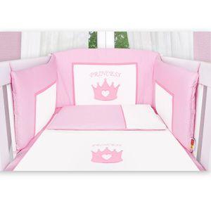 Hochglanz Babyzimmer Memi 19-tlg. mit Textilien Princess in Rosa – Bild 8