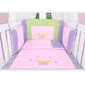 Hochglanz Babyzimmer Memi 19-tlg. mit Textilien Spring in Rosa – Bild 8