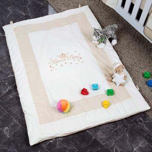 Babyzimmer Yves 19-tlg. mit 2 türigem Schrank + kl. Bett, Textilset Kleiner Prinz in Beige – Bild 16