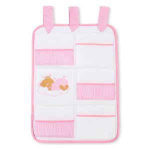 Babyzimmer Yves 19-tlg. mit 2 türigem Schrank + gr. Bett, Textilset Sleeping Bear in Rosa – Bild 7