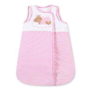Babyzimmer Yves 19-tlg. mit 2 türigem Schrank + gr. Bett, Textilset Sleeping Bear in Rosa – Bild 8