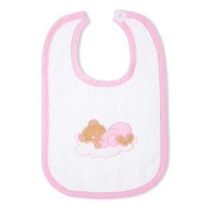 Babyzimmer Yves 19-tlg. mit 2 türigem Schrank + gr. Bett, Textilset Sleeping Bear in Rosa – Bild 12