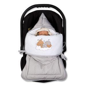 Babyzimmer Yves 19-tlg. mit 2 türigem Schrank + gr. Bett, Textilset Sleeping Bear in Grau – Bild 10
