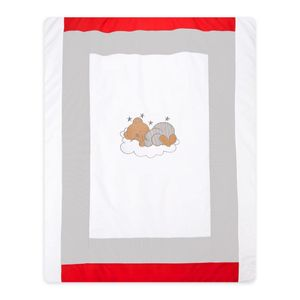 Babyzimmer Yves 19-tlg. mit 2 türigem Schrank + gr. Bett, Textilset Sleeping Bear in Grau – Bild 12
