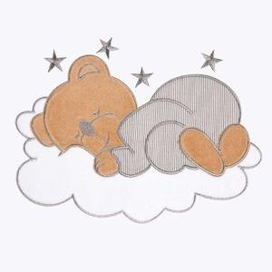 Babyzimmer Yves 19-tlg. mit 2 türigem Schrank + gr. Bett, Textilset Sleeping Bear in Grau – Bild 6