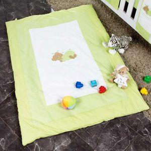 Babyzimmer Yves 19-tlg. mit 2 türigem Schrank + gr. Bett, Textilset Sleeping Bear in Grün – Bild 16