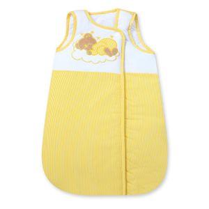 Babyzimmer Yves 19-tlg. mit 2 türigem Schrank + gr. Bett, Textilset Sleeping Bear in Gelb – Bild 8
