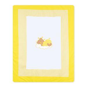 Babyzimmer Yves 19-tlg. mit 2 türigem Schrank + gr. Bett, Textilset Sleeping Bear in Gelb – Bild 15