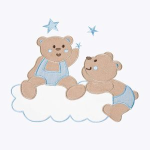 Babyzimmer Yves 19-tlg. mit 2 türigem Schrank + gr. Bett, Textilset von Joy in Blau – Bild 6
