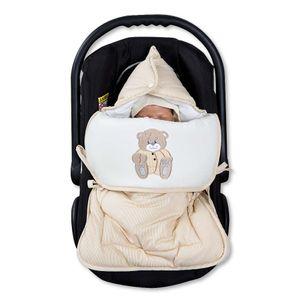 Babyzimmer Yves 19-tlg. mit 2 türigem Schrank + gr. Bett, Textilset Memi in Beige – Bild 11